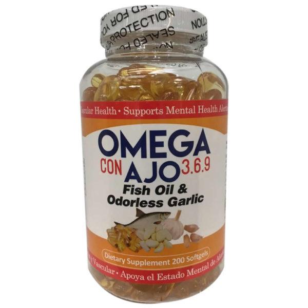 Omega con Ajo 3, 6 y 9